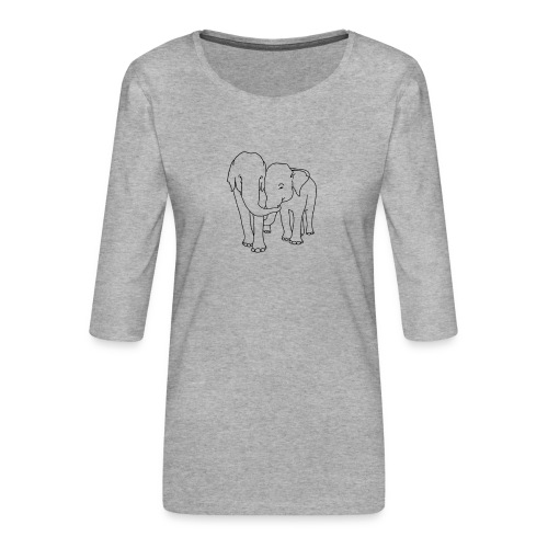 Olifanten - Vrouwen premium shirt 3/4-mouw