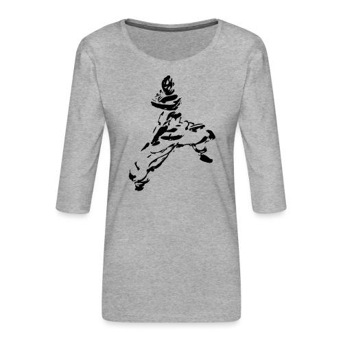 kungfu - Women's Premium 3/4-Sleeve T-Shirt