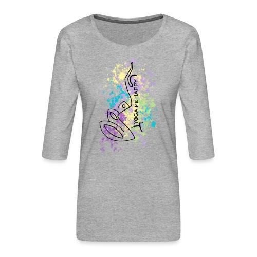 Yoga ME Happy Life 2021 - Frauen Premium 3/4-Arm Shirt