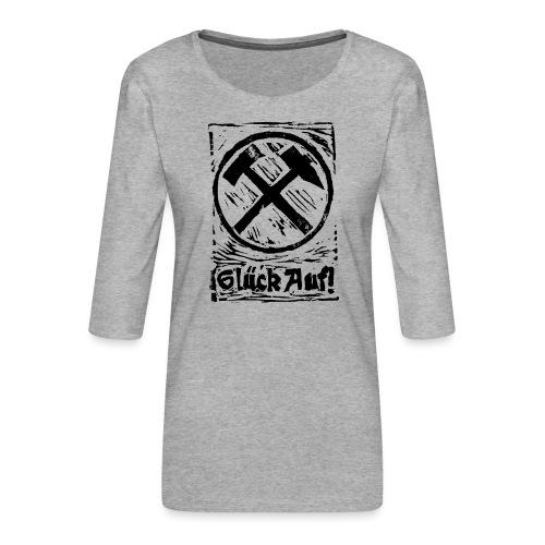 GlueckAuf - Frauen Premium 3/4-Arm Shirt