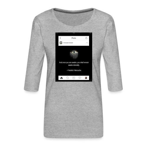 81F94047 B66E 4D6C 81E0 34B662128780 - Women's Premium 3/4-Sleeve T-Shirt