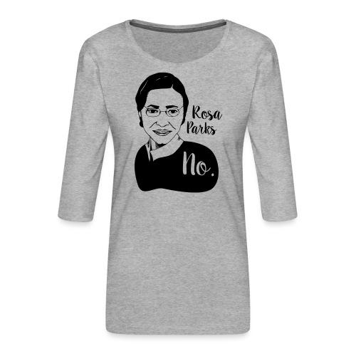 Rosa Parks - Maglietta da donna premium con manica a 3/4