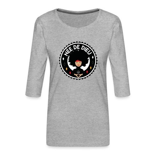 Née de Dieu - T-shirt Premium manches 3/4 Femme