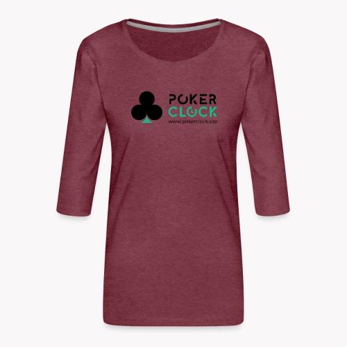 Poker Clock Logo - Frauen Premium 3/4-Arm Shirt