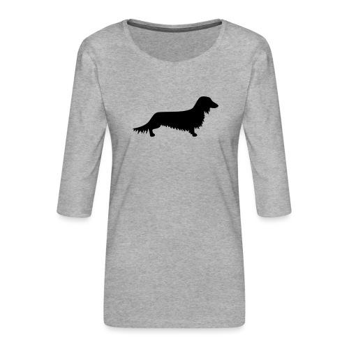 Langhaardackel - Frauen Premium 3/4-Arm Shirt