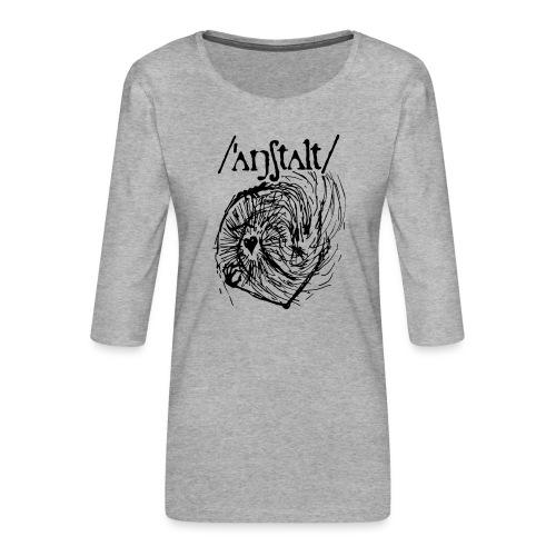logo mit wesen (schwarz) - Frauen Premium 3/4-Arm Shirt
