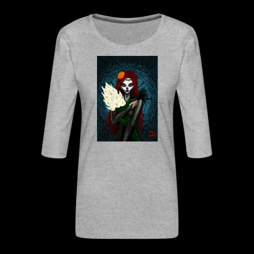 Death and lillies - Women's Premium 3/4-Sleeve T-Shirt