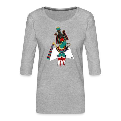 Osiris I altägyptische Gottheit - Frauen Premium 3/4-Arm Shirt