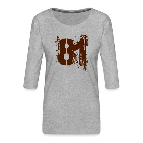 City_81_München - Frauen Premium 3/4-Arm Shirt