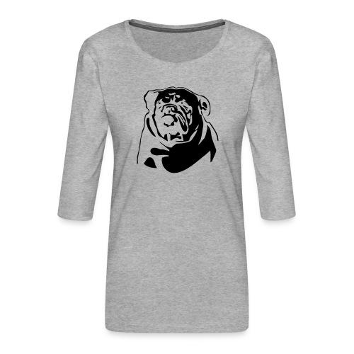 English Bulldog - negative - Naisten premium 3/4-hihainen paita