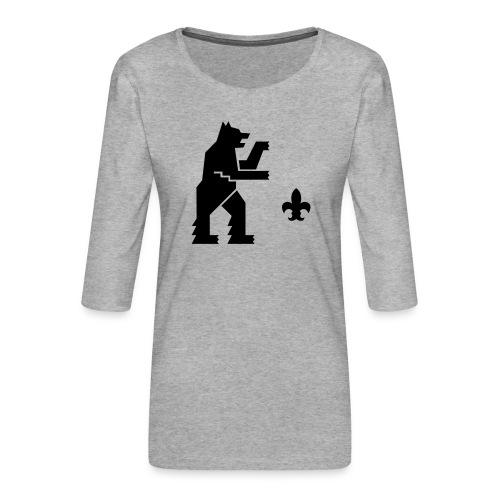 hemelogovektori - Naisten premium 3/4-hihainen paita