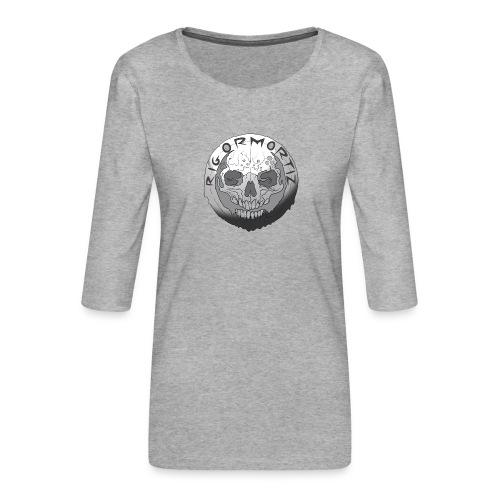 Rigormortiz Black and White Design - Women's Premium 3/4-Sleeve T-Shirt