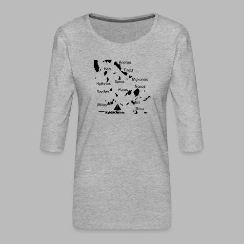 Kykladen Griechenland Crewshirt - Frauen Premium 3/4-Arm Shirt