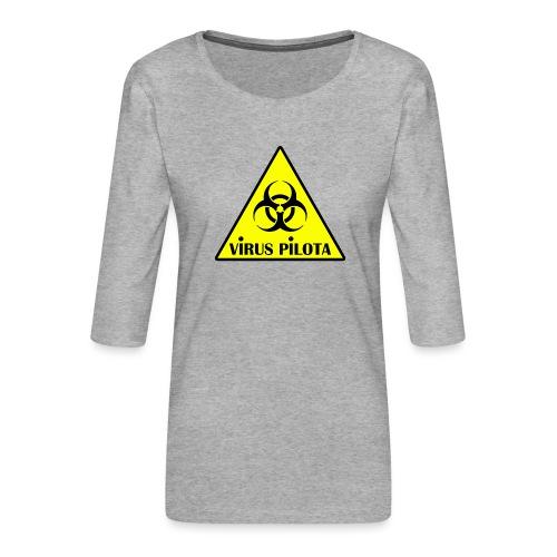 viruspelote png - T-shirt Premium manches 3/4 Femme