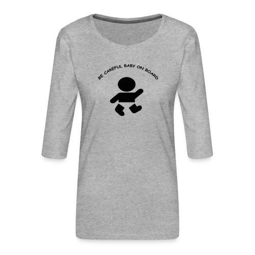 babyonboard - Women's Premium 3/4-Sleeve T-Shirt