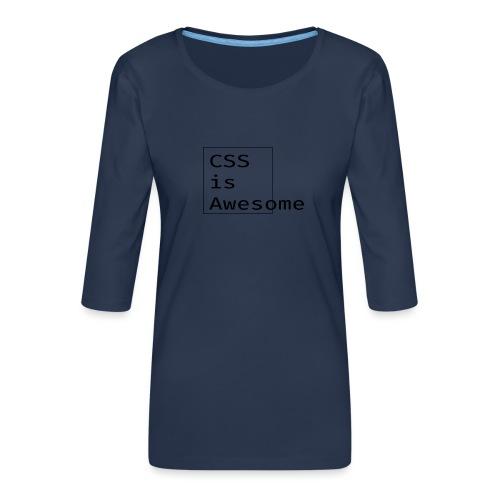 cssawesome - black - Vrouwen premium shirt 3/4-mouw