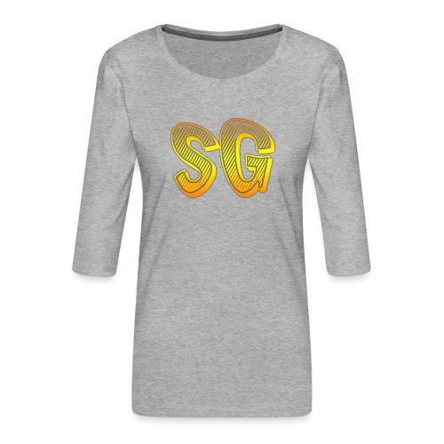 SG Bambino - Maglietta da donna premium con manica a 3/4