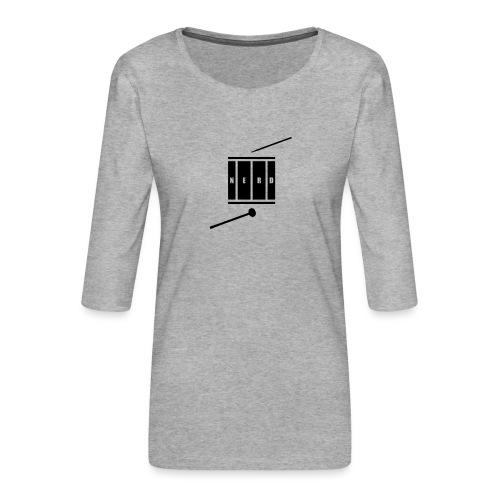 Nerd_Logo Black - Dame Premium shirt med 3/4-ærmer