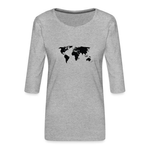 World - Dame Premium shirt med 3/4-ærmer