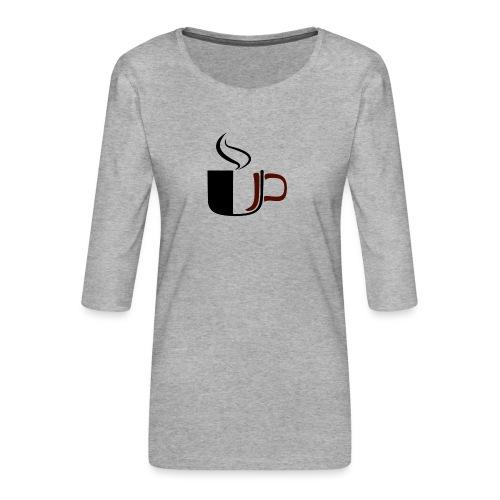 JU Kahvikuppi logo - Naisten premium 3/4-hihainen paita
