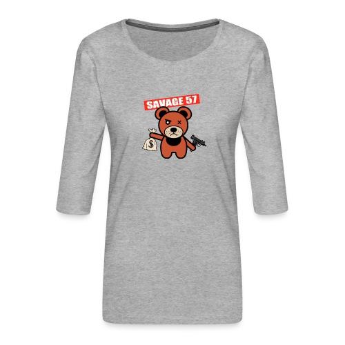 Savage 57 - T-shirt Premium manches 3/4 Femme