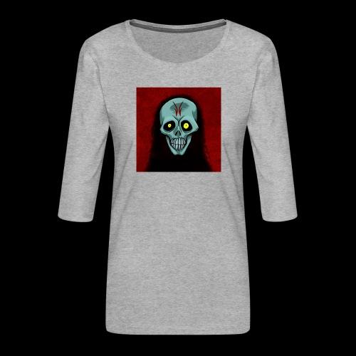 Ghost skull - Women's Premium 3/4-Sleeve T-Shirt