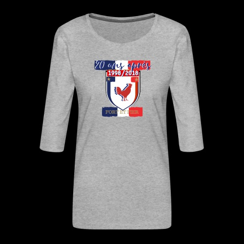france FRANCE foot coupe du monde football - T-shirt Premium manches 3/4 Femme