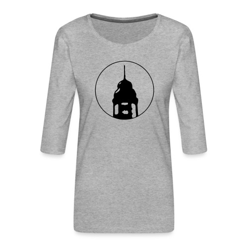 Neckarstadtblog Logo - Frauen Premium 3/4-Arm Shirt