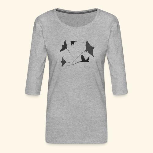 Rochen 2 - Frauen Premium 3/4-Arm Shirt