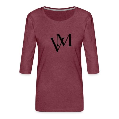 Lettere VM - Maglietta da donna premium con manica a 3/4