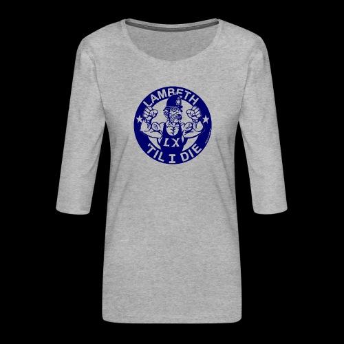 LAMBETH - NAVY BLUE - Women's Premium 3/4-Sleeve T-Shirt