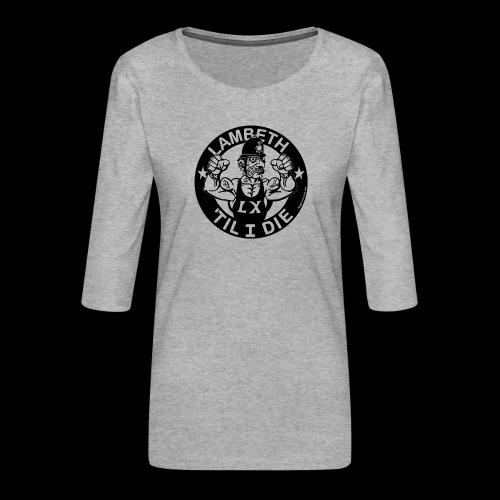 LAMBETH - BLACK - Women's Premium 3/4-Sleeve T-Shirt