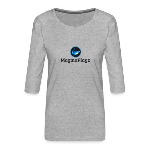 MagmaPlayz shark - Dame Premium shirt med 3/4-ærmer