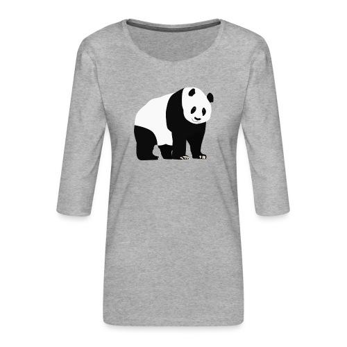 Panda - Naisten premium 3/4-hihainen paita