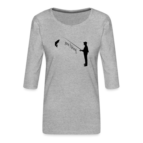 Angler gone-fishing - Frauen Premium 3/4-Arm Shirt