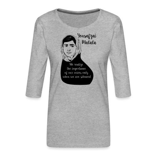Yousafzai Malala quote t shirt - Maglietta da donna premium con manica a 3/4