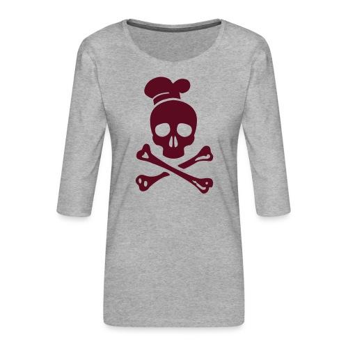 cannibal cook vector - Frauen Premium 3/4-Arm Shirt