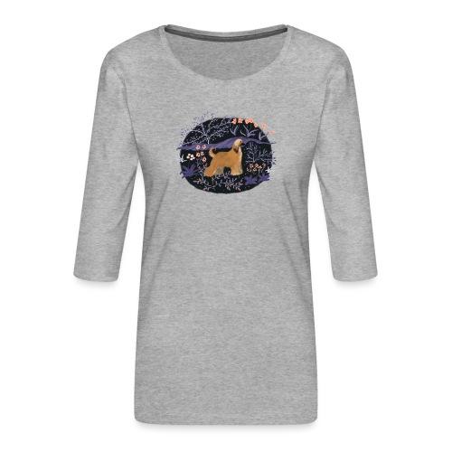 Afghane im Traumwald - Frauen Premium 3/4-Arm Shirt