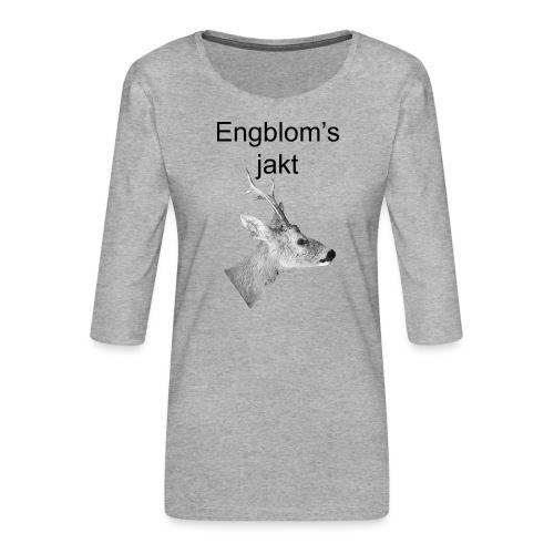 Officiell logo by Engbloms jakt - Premium-T-shirt med 3/4-ärm dam