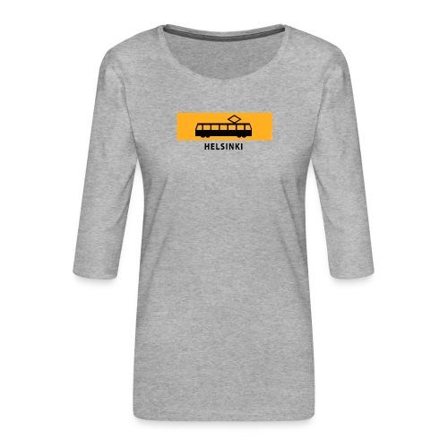 RATIKKA PYSÄKKI HELSINKI T-paidat ja lahjatuotteet - Naisten premium 3/4-hihainen paita