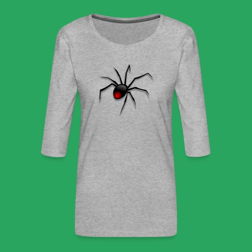 spider logo fantasy - Maglietta da donna premium con manica a 3/4