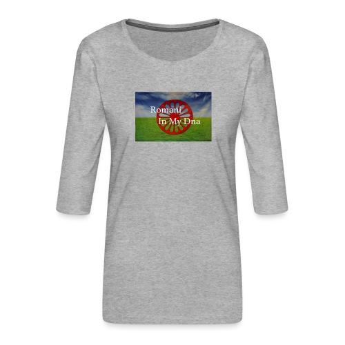 flagromaniinmydna - Premium-T-shirt med 3/4-ärm dam