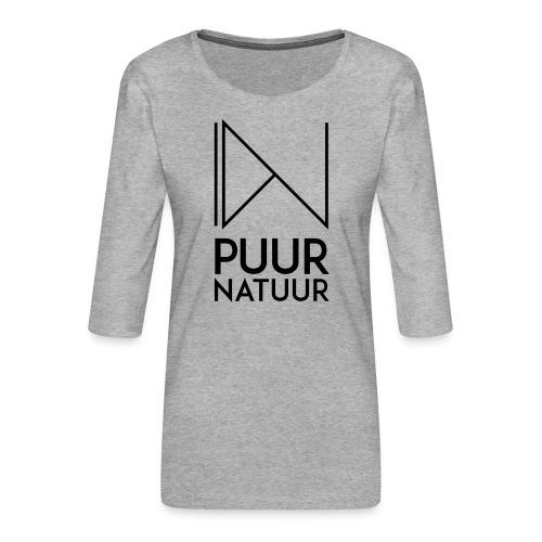 PUUR NATUUR FASHION BRAND - Vrouwen premium shirt 3/4-mouw