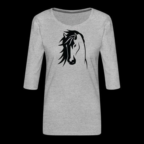 Stallion - Women's Premium 3/4-Sleeve T-Shirt