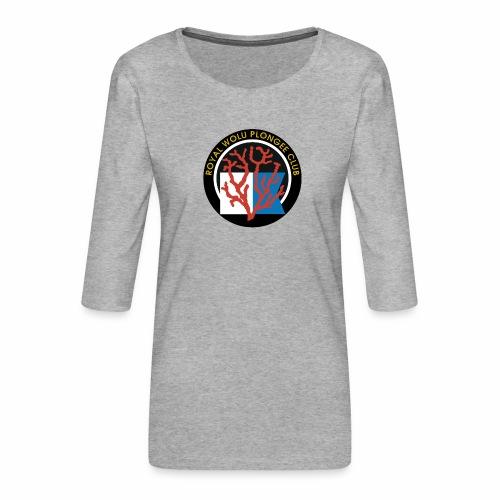 Royal Wolu Plongée Club - T-shirt Premium manches 3/4 Femme