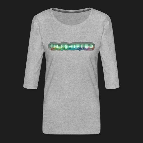 TiltShifted Logo on Black - Naisten premium 3/4-hihainen paita