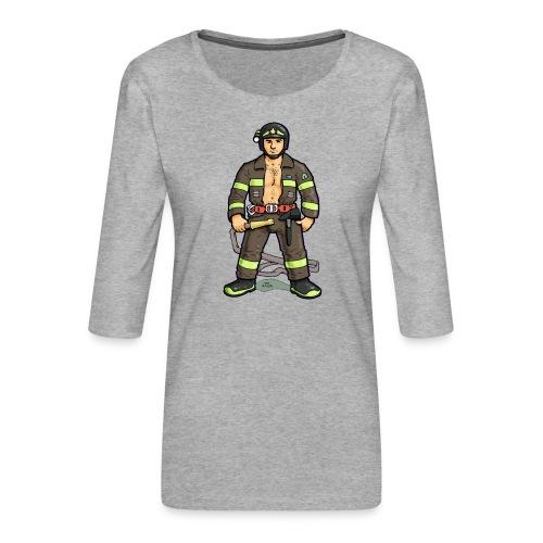 pompiere - Maglietta da donna premium con manica a 3/4