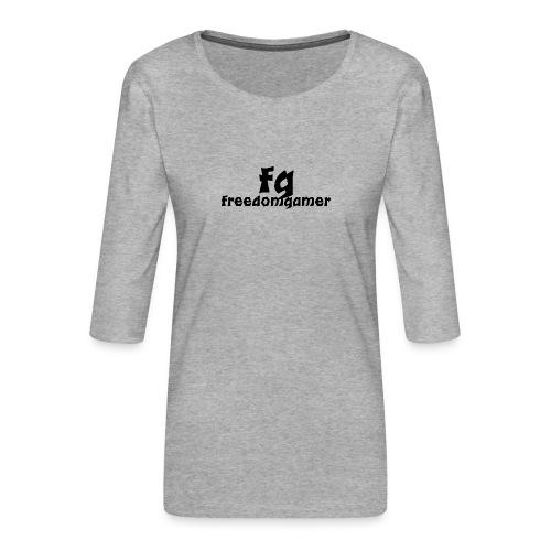freedomgamer desing - Naisten premium 3/4-hihainen paita