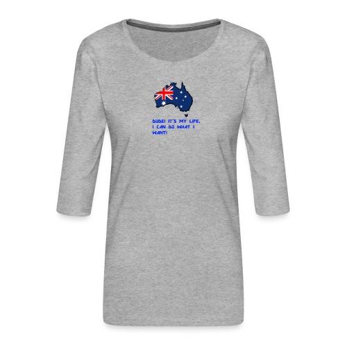 AUSTRALIAN MERCH - Women's Premium 3/4-Sleeve T-Shirt