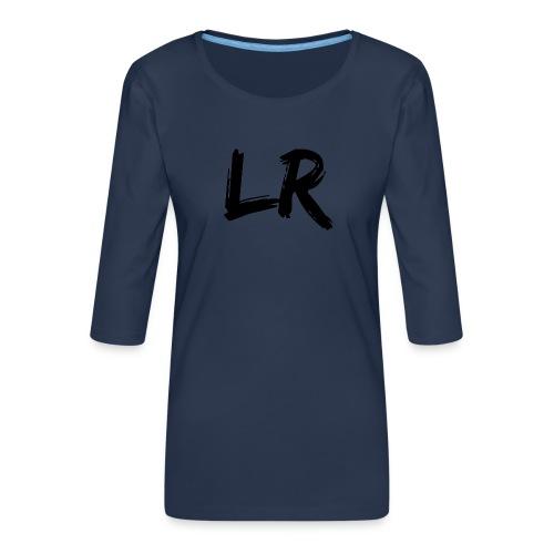 LiamRusso Logo Zwart - Vrouwen premium shirt 3/4-mouw